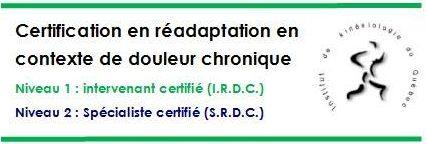 Certification en réadaptation en contexte de douleur chronique